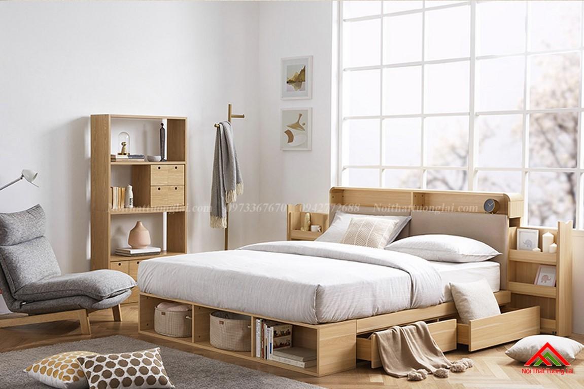 Giường ngủ hộp GN6822 với nhiều ngăn lưu trữ đồ đa dạng 12
