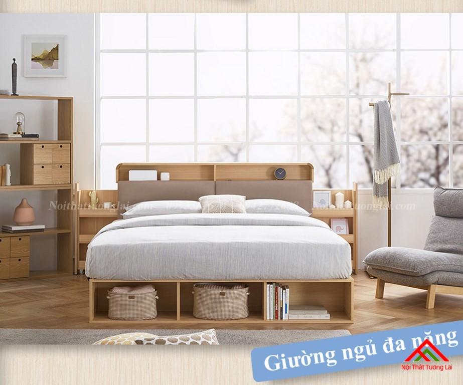 Giường ngủ hộp GN6822 với nhiều ngăn lưu trữ đồ đa dạng 1