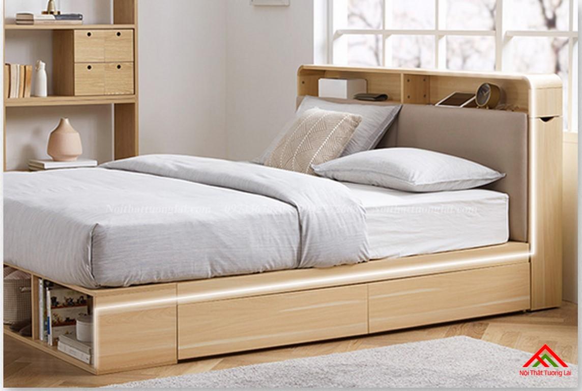 Giường ngủ hộp GN6822 với nhiều ngăn lưu trữ đồ đa dạng 9