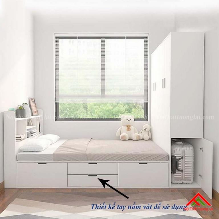 Giường ngủ hộp thông minh liền tủ quần áo GN6820 9