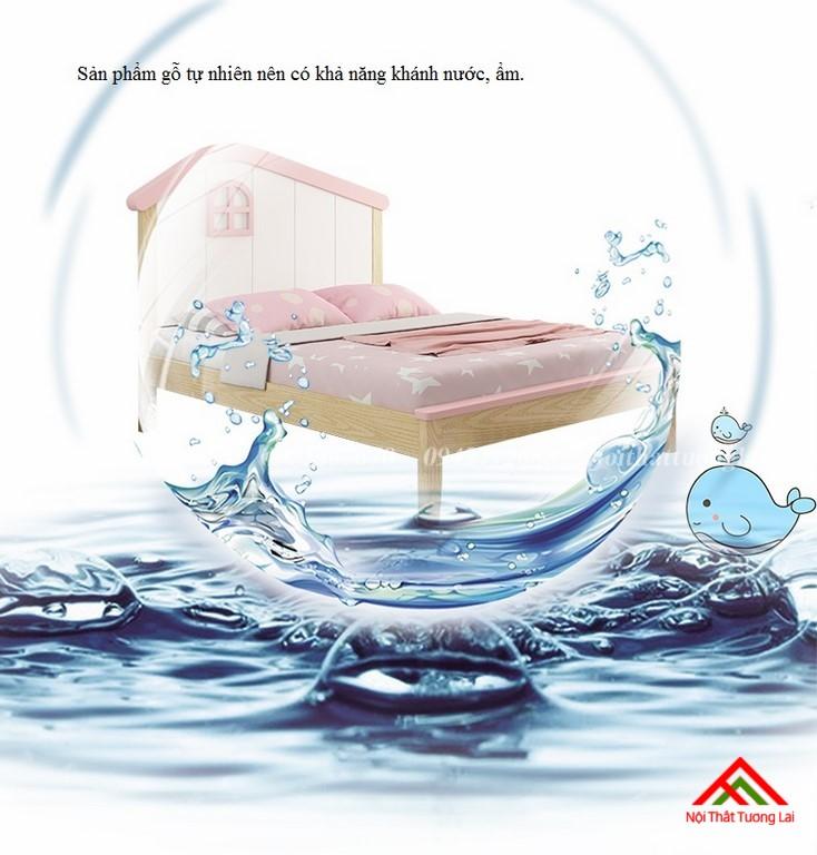 Giường ngủ trẻ em cho bé gái GB6806 10
