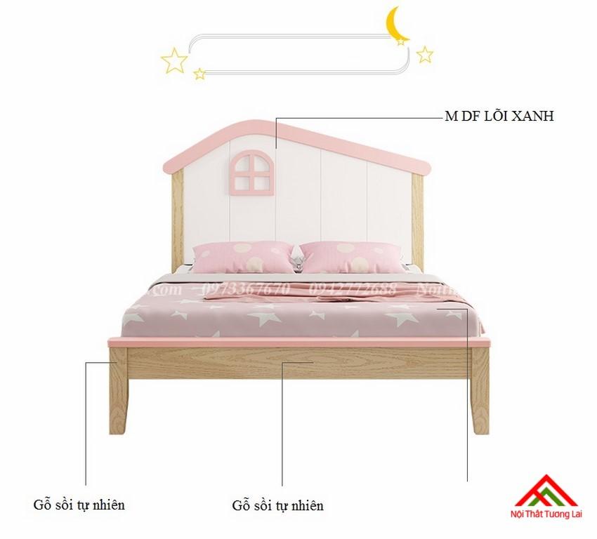 Giường ngủ trẻ em cho bé gái GB6806 3