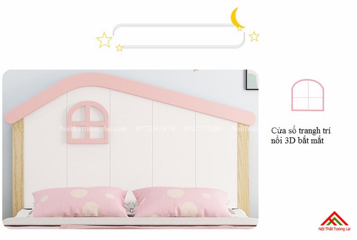 Giường ngủ trẻ em cho bé gái GB6806 4