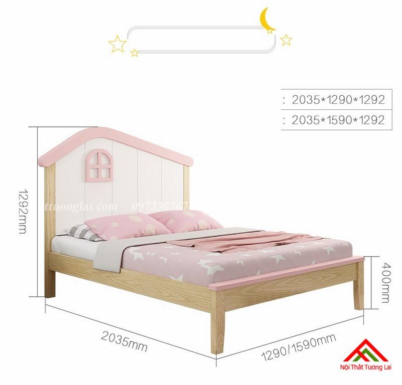 Giường ngủ trẻ em cho bé gái GB6806 6