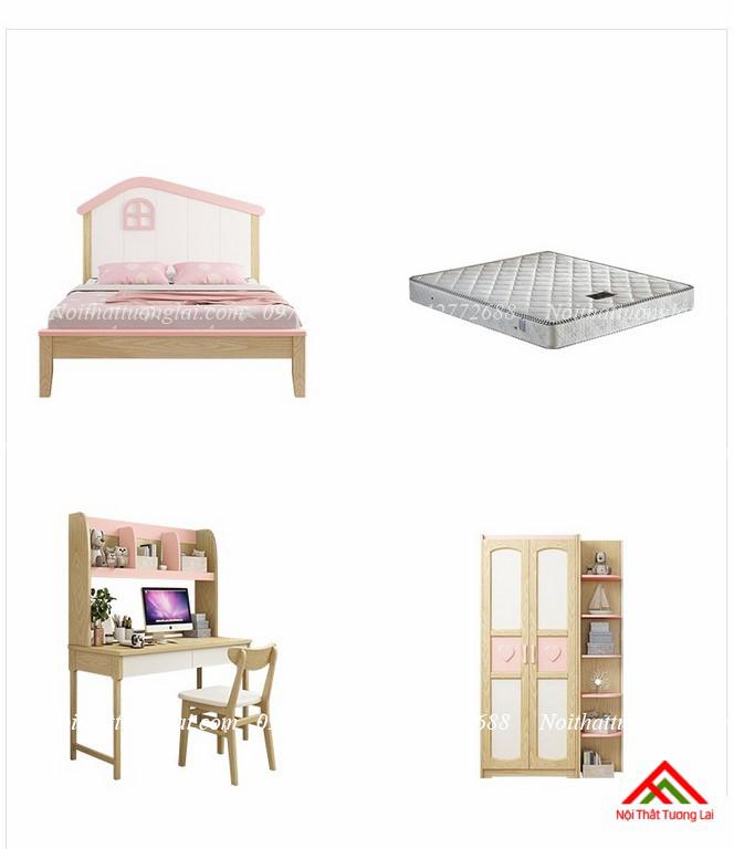 Giường ngủ trẻ em cho bé gái GB6806 9