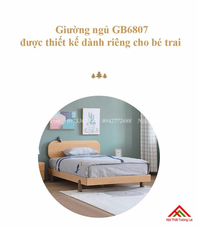 Giường ngủ trẻ em cho bé trai GB6807 1