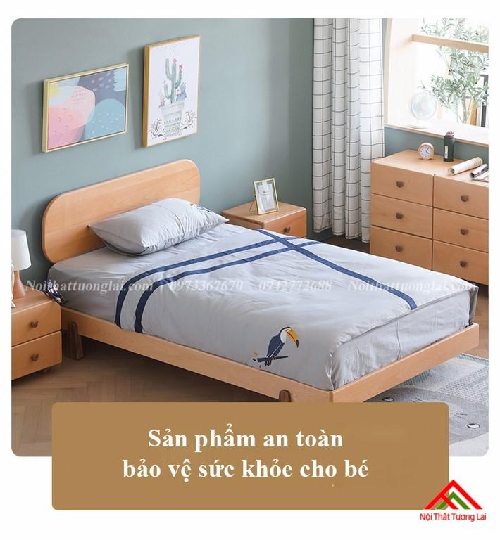 Giường ngủ trẻ em cho bé trai GB6807 hiện đại
