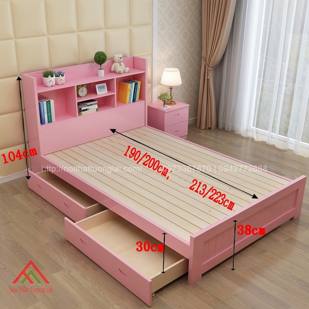 Giường ngủ trẻ em đa chức năng GB6804 6