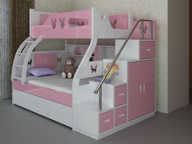 Giường tầng cho bé gái GT6807