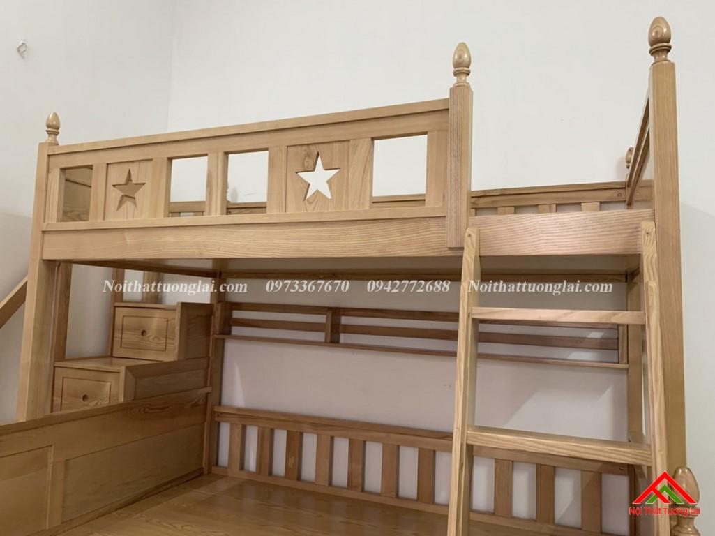 Hình ảnh thực tế giường tầng gỗ tự nhiên GT6820 6
