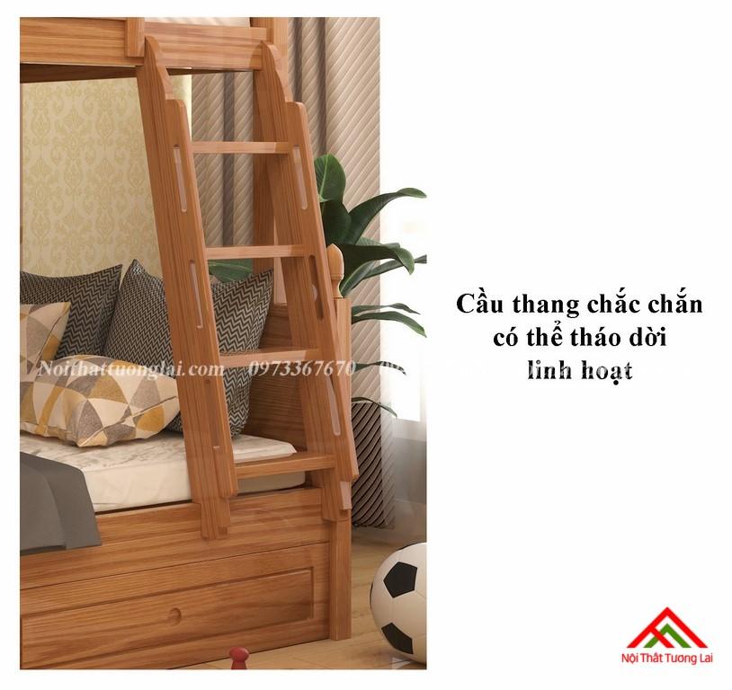 Giường tầng gỗ tự nhiên GT6820 4