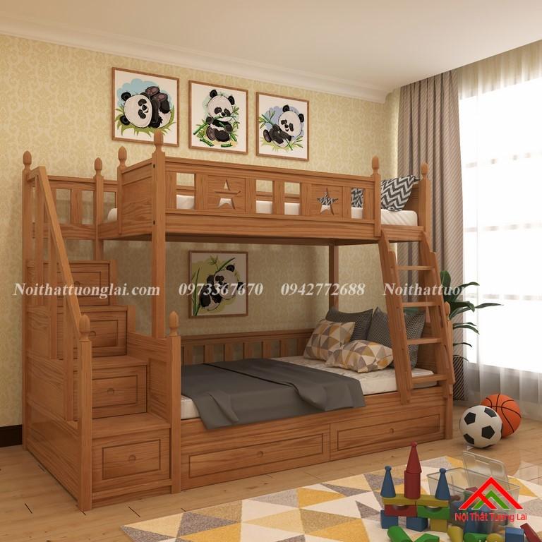 Giường tầng gỗ tự nhiên GT6820 7