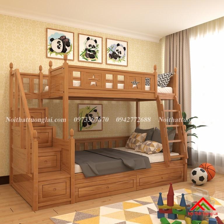 Giường tầng gỗ tự nhiên GT6820 8