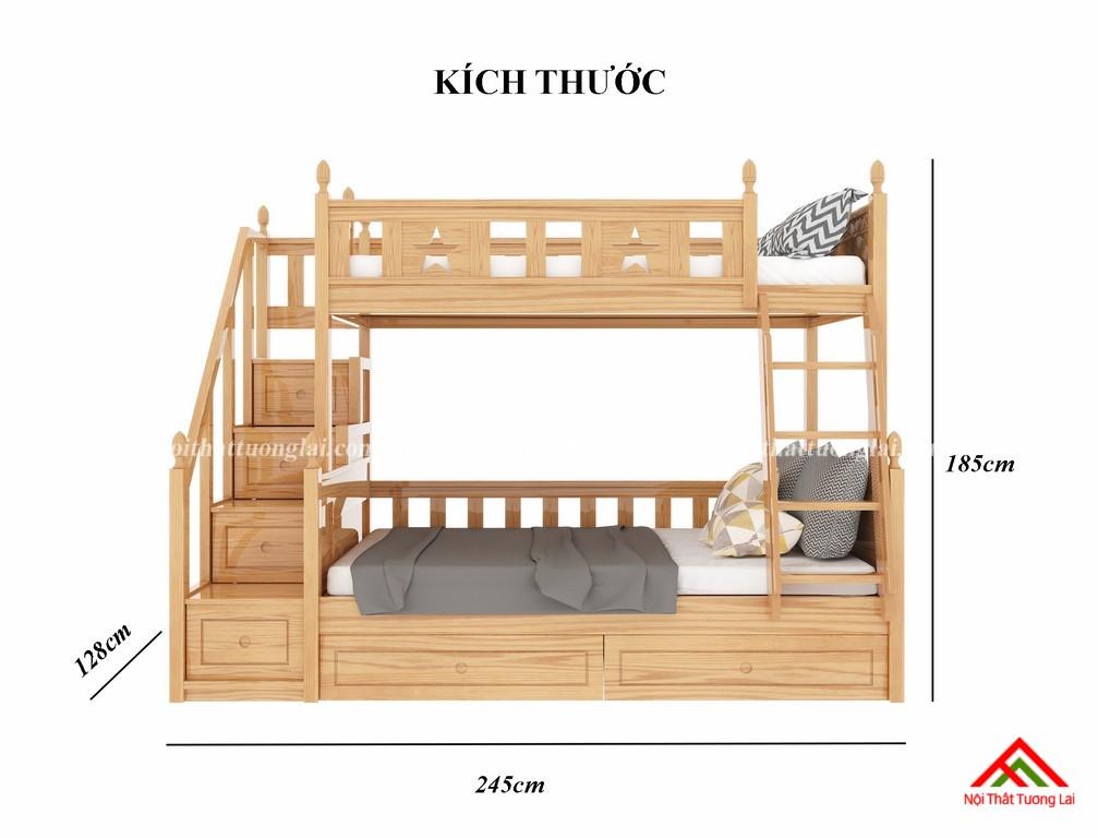 Giường tầng gỗ tự nhiên GT6820 2