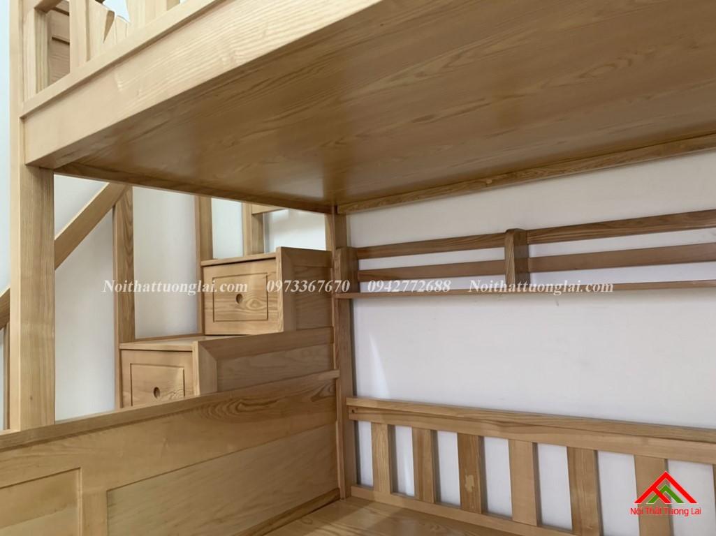 Hình ảnh thực tế giường tầng gỗ tự nhiên GT6820 4