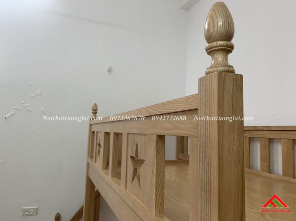 Hình ảnh thực tế giường tầng gỗ tự nhiên GT6820 3
