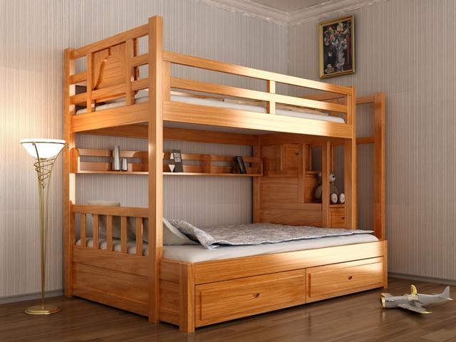 giường tầng trẻ em kết hợp bàn học