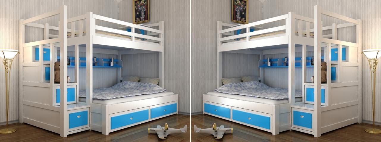 giường tầng trẻ em có bàn học