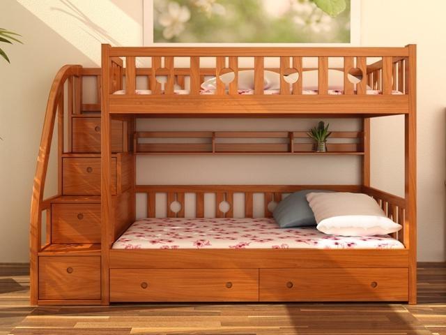 Giường ngủ 2 tầng trẻ em có ngăn kéo GT6818