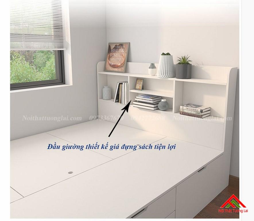 Giường trẻ em kết hợp tủ quần áo vô cùng tiện lợi GB6813 5