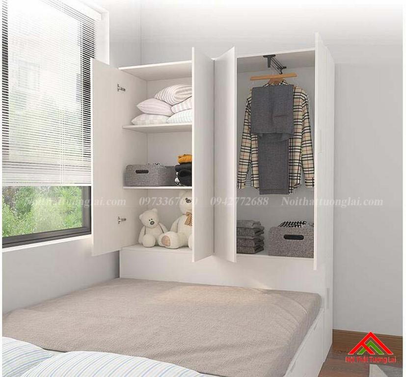 Giường trẻ em kết hợp tủ quần áo vô cùng tiện lợi GB6813 7