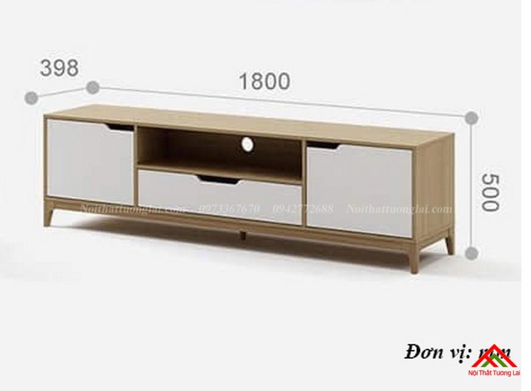 Kệ tivi gỗ công nghiệp KE6818 thiết kế hiện đại 2