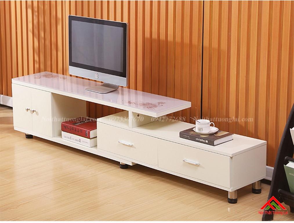 Kệ tivi gỗ mặt kính vẻ đẹp hiện đại KE6808 13