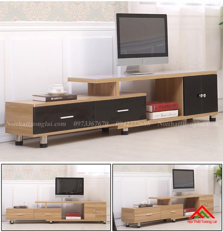 Kệ tivi gỗ mặt kính vẻ đẹp hiện đại KE6808 4