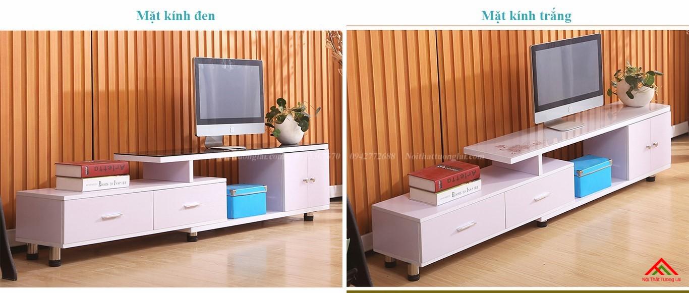 Kệ tivi gỗ mặt kính vẻ đẹp hiện đại KE6808 1