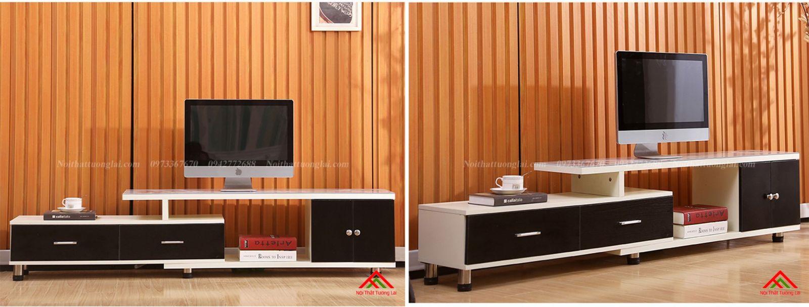 Kệ tivi gỗ mặt kính vẻ đẹp hiện đại KE6808 7