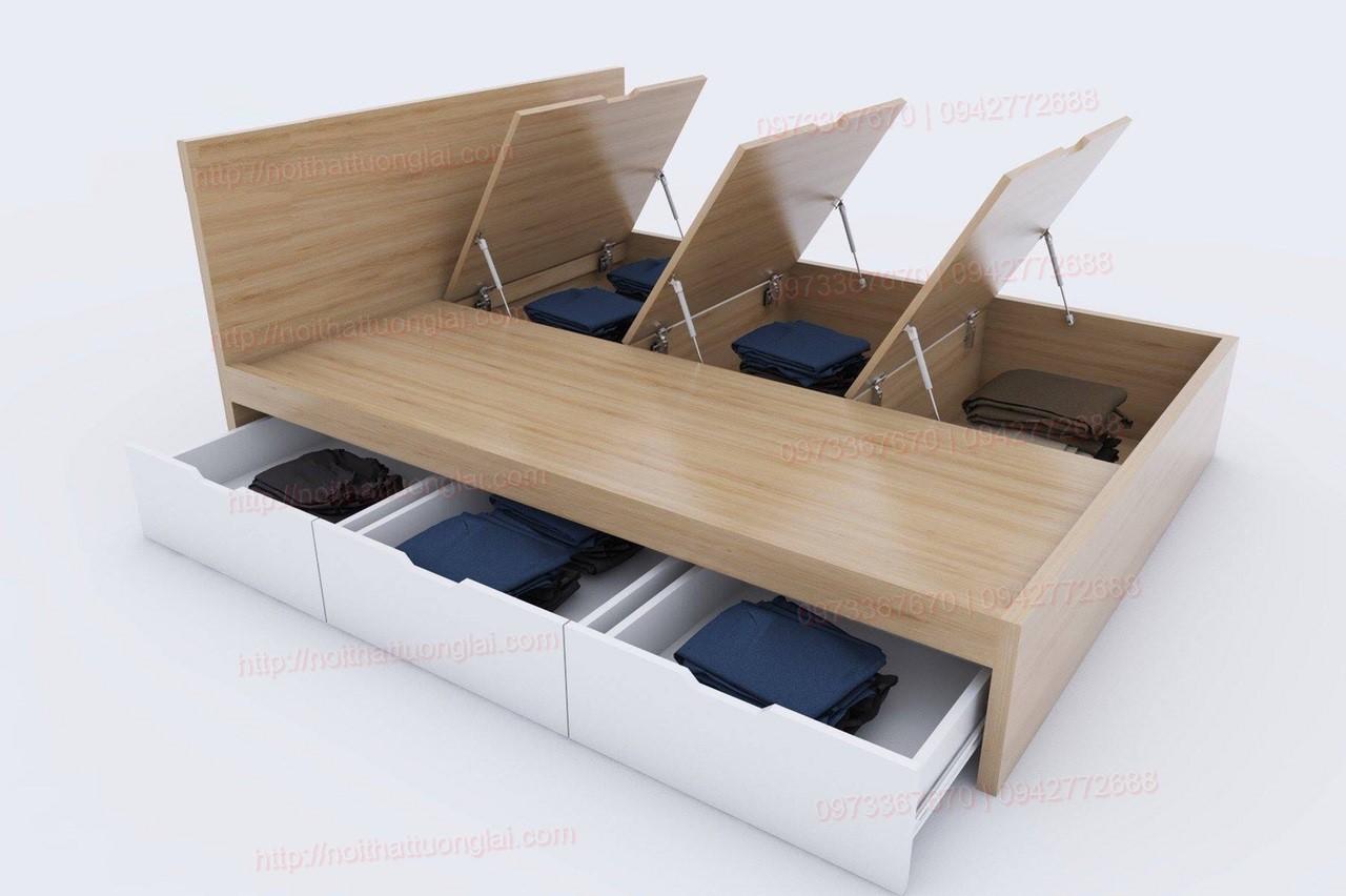 Giường ngủ hiện đại đẹp có ngăn kéo