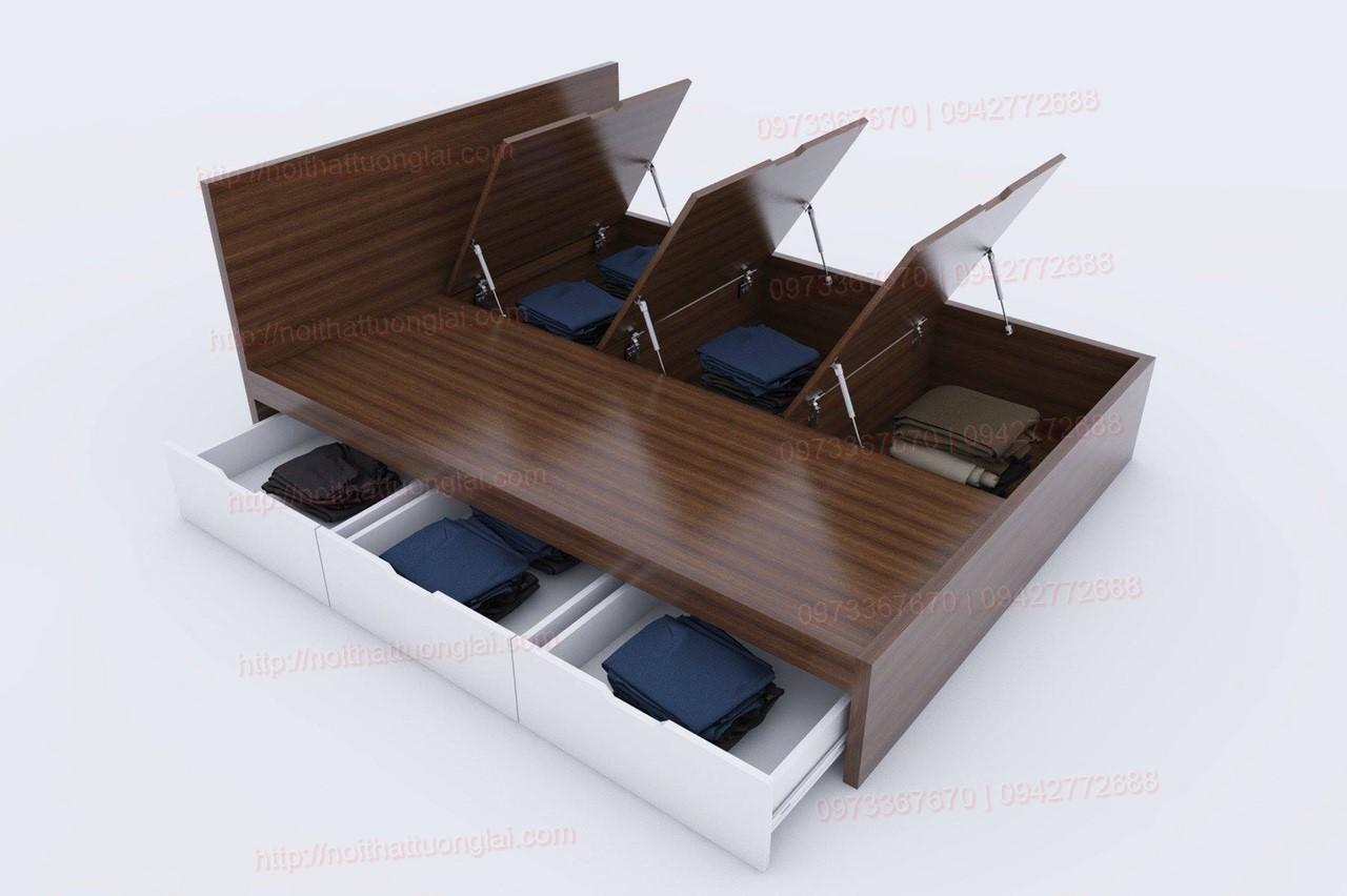 Giường ngủ hiện đại đẹp có ngăn kéo GN6803