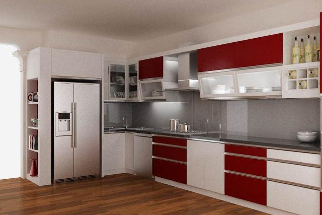 mẫu thiết kế tủ bếp dạng chứ L