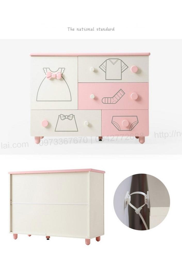 Tủ quần áo trẻ em sơ sinh đẹp QA6801 12