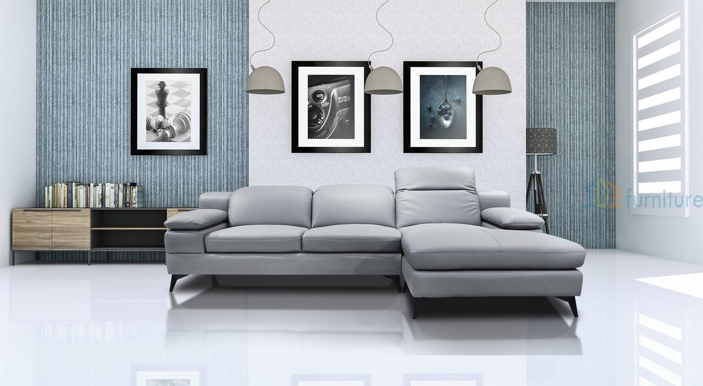 bộ sofa góc đẹp da nhập khẩu tây ban nha