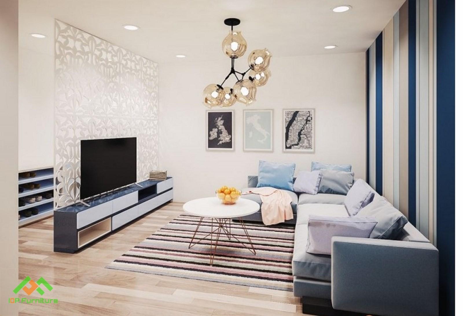 Mẫu sofa vải phòng khách hiện đại
