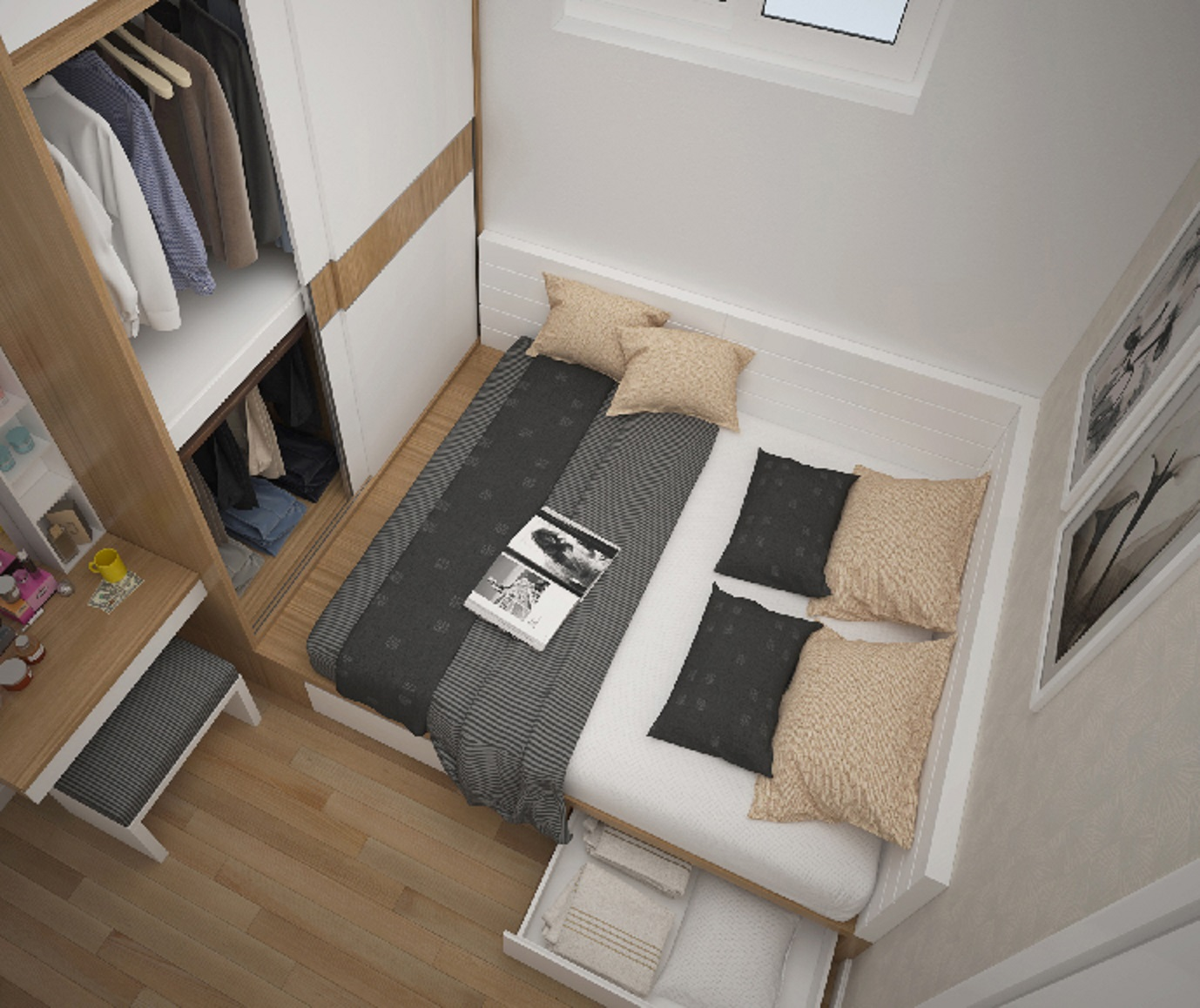 Thiết kế nội thất chung cư time city anh Hưng 2304