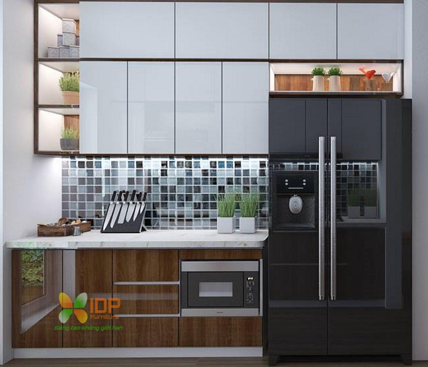 thiết kế tủ bếp nhỏ đẹp hiện đại hà nội