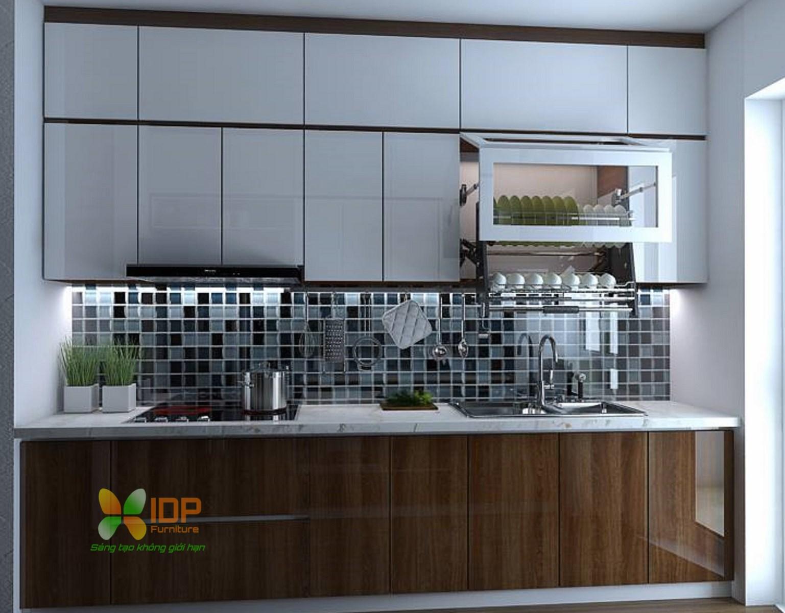 thiết kế tủ bếp nhỏ đẹp hiện đại