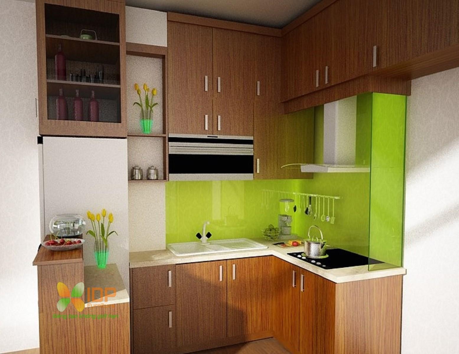 thiết kế tủ bếp nhỏ đẹp