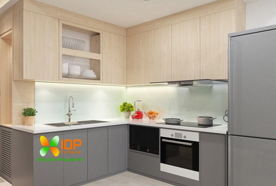 mẫu tủ bếp nhỏ cho chung cư