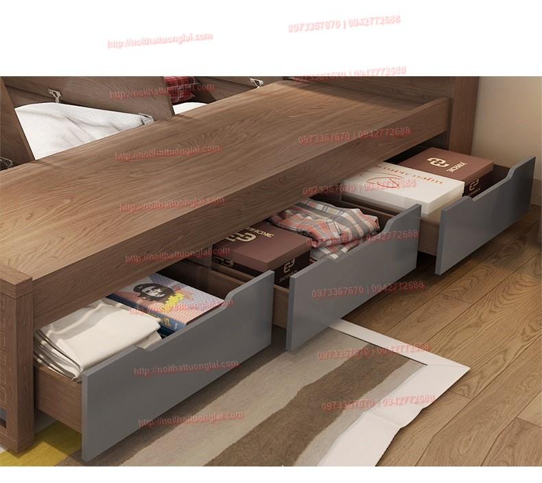 Top 10 mẫu giường gỗ công nghiệp thịnh hành nhất 1