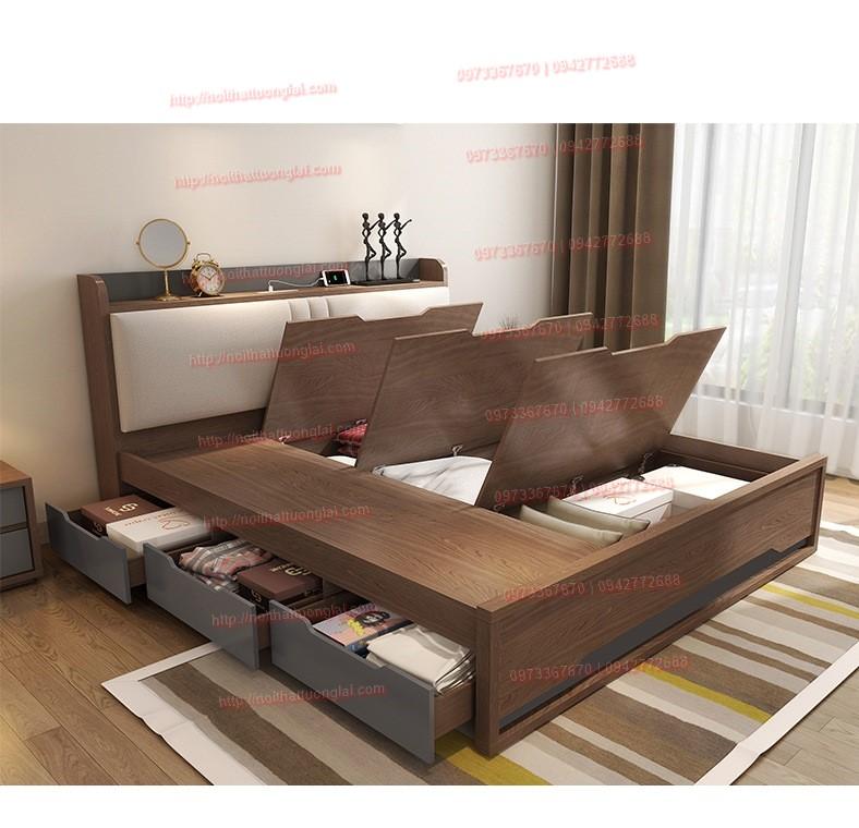 Top 10 mẫu giường gỗ công nghiệp thịnh hành nhất 4
