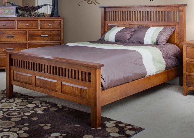 Mẫu giường gỗ công nghiệp đơn giản