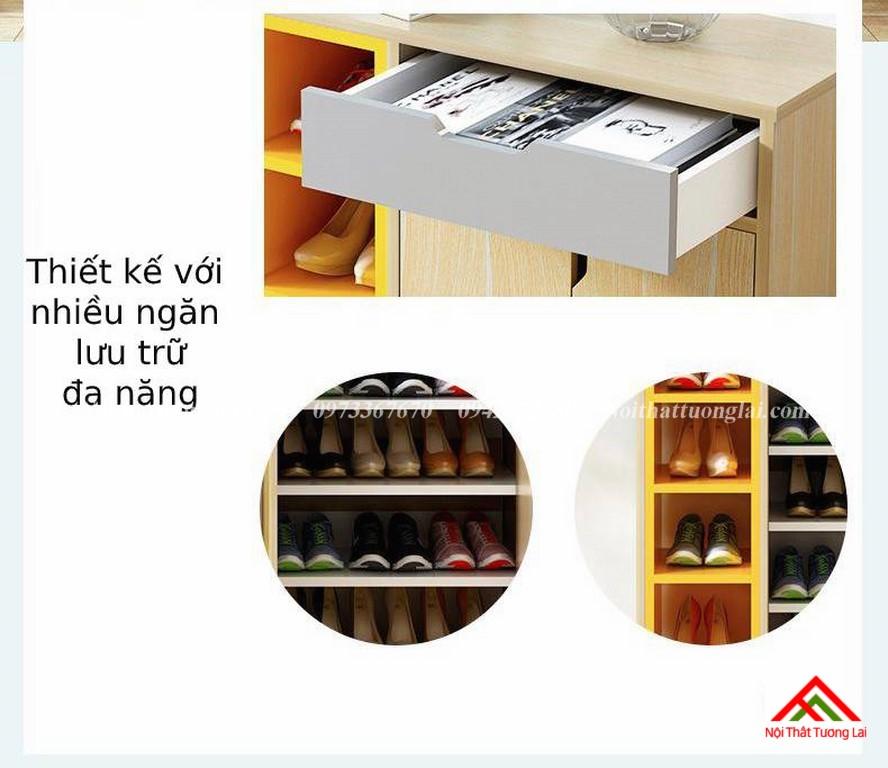 Tủ giày dép thiết kế tiện dụng TG6811 7
