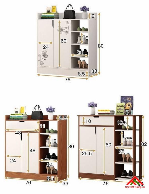 Tủ giầy gỗ công nghiệp hiện đại TG6812 2