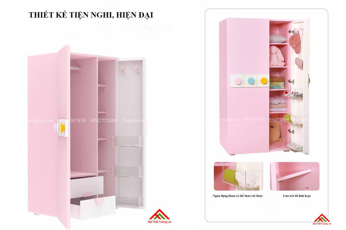 Tủ quần áo cho bé gái GA6811 2