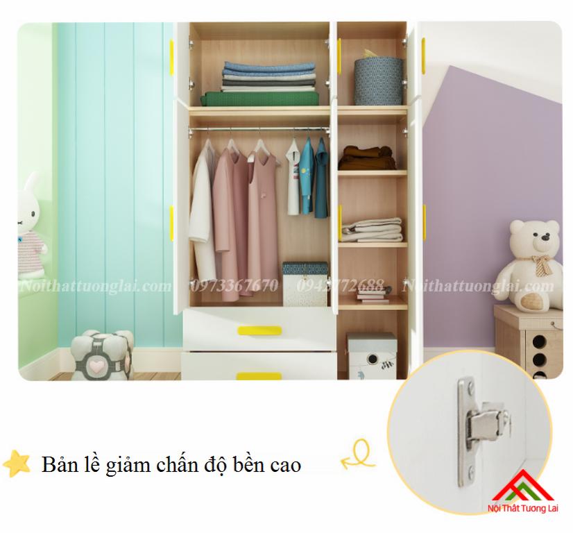 Tủ quần áo đẹp cho bé GA6809 6