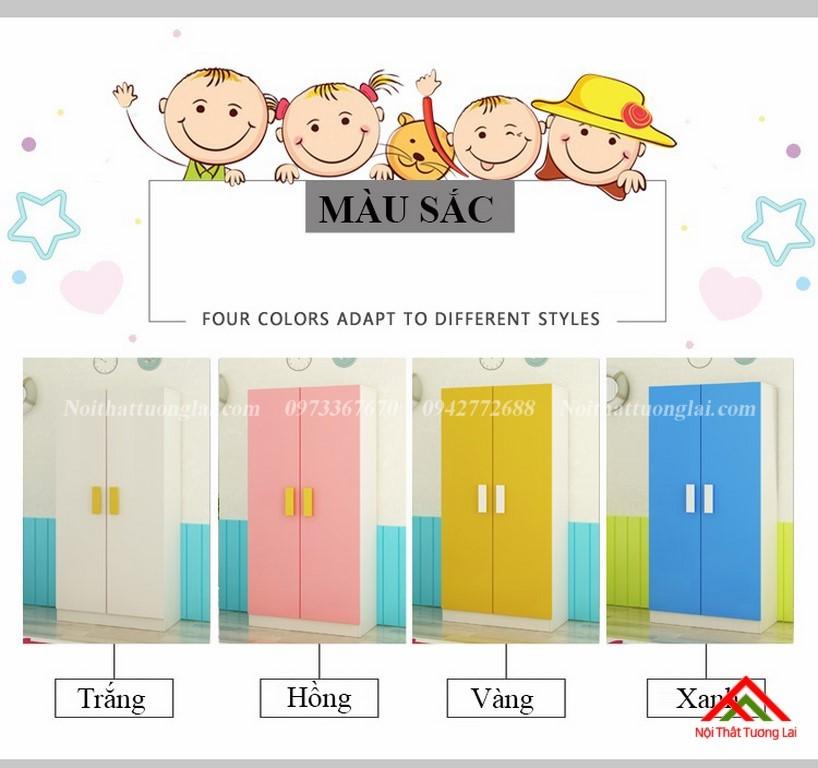 Tủ quần áo trẻ em QA6812 kiểu dáng mới 2
