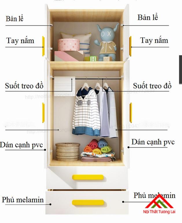 Tủ quần áo trẻ em QA6808 5